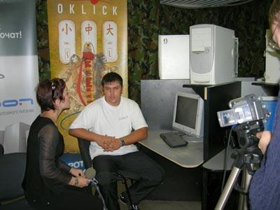 гл. судья дает телеинтервью и ТВ