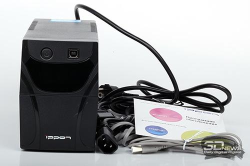 ИБП IPPON Back Power Pro LCD 600 полный комплект